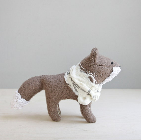 RESERVED / quick brown fox / soft sculpture animal