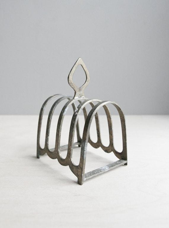 vintage metal toast rack / mail organizer