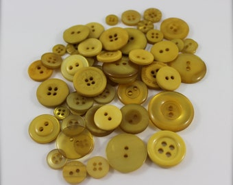 50 Old Gold Buttons-Buy 3, Get 1 FREE