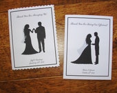 Thank You For Marrying Us/Officiant Card-Wedded Couple Silhouette