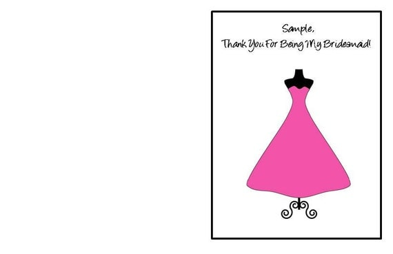 Reserved Bridesmaid Card Listing For eartac23