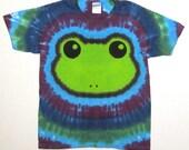 Tie Dye Frog Shirt. Tie dye tshirt, Tree Frog Tie Dye, Youth Medium tshirt