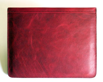 iPad Case for First 4 Generations - Waxy Red Distressed Leather - Fits iPad 1, iPad 2, iPad 3, iPad 4