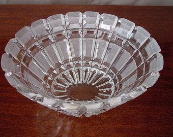 Vintage Oval Hand Cut Lead Crystal Serving Fruit or Potpourri Bowl