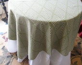 TABLECLOTH 54 inch square in Basil Green