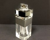 Lucite Lighter with Cigarette Storage Mad Men