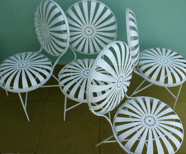French Sunburst Patio Chair Set Of 4 Francois Carre