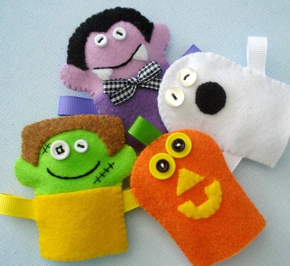 Image result for halloween finger puppets