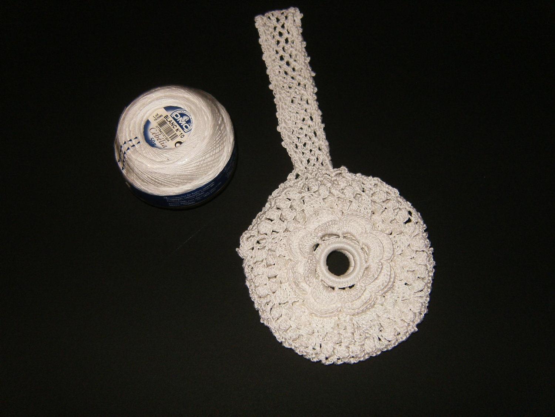 Crochet Yarn Holder : Crochet Wrist Thread Ball Holder using by SallysCrossStitch