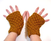 Fingerless Gloves, Chunky Knit Hand Warmers