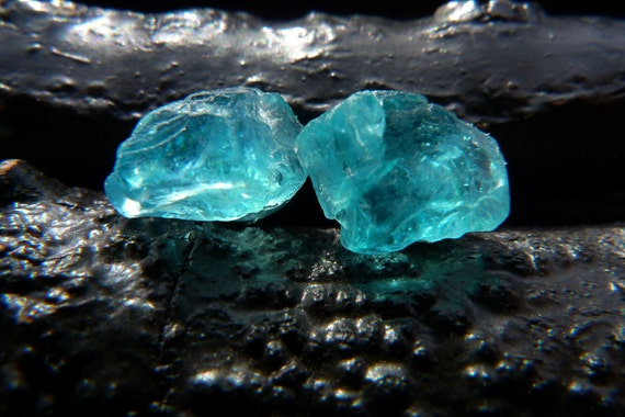 apatite druzy earrings, Brazilian jewelry