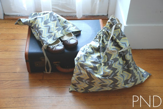 """Travel Set with Amy Butler """"ritzy stripe"""" fabric"""