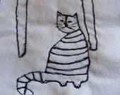 Kitchen goddess - embroidery artwork
