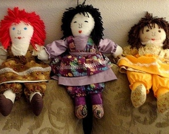 "Rag Dolls-Child Friendly-(Made by request) 20"" tall per doll."