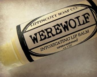 Werewolf Lip Balm, Unsweetened Lip Balm, Handmade Lip Balm, Lavender Musk Lip Balm, Unique Lip Balm, Unisex Lip Balm, Men's Gift
