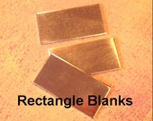 10 of 24 g Solid Copper Rectangle Blanks, 1-1/2 inch x 1/4 inch, Great for stamping, charms and pendants