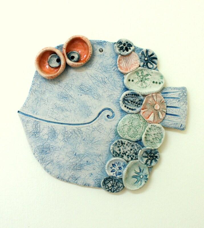 Handmade Ceramic Wall Decor The Fish 4 Pottery