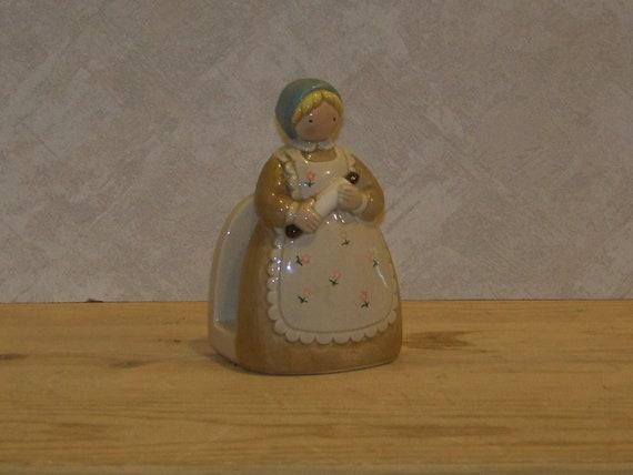 Vintage Otagiri Woman Baker Napkin Holder