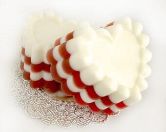 Red Velvet Cake Heart - Goat's Milk Soap Bar