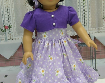 Daisy Dear Dress for American Girl doll with jacket
