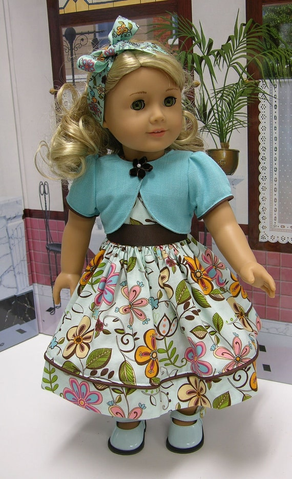 Enchanted Garden Dress for American Girl doll with jacket