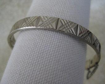 Silver Bracelet Bangle Vintage