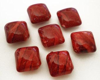 SALE 10pcs -16x18mm Red Rhombus shape acrylic beads