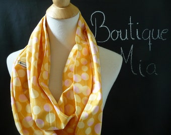 PERFECT GIFT - Infinity SCARF - Amy Butler - Martini Dot - Quilters Cotton - by Boutique Mia
