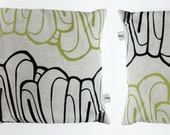 Small Marquee Cushion Cover - Lime and Linen
