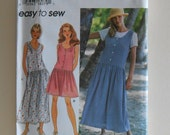Simplicity 9596 Pullover Dress or Jumper and Pullover Top Sizes 12, 14, 16, 18 Uncut Sewing Pattern
