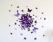 70 3D Butterfly Wall Art Circle Burst