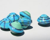 Handmade Lampwork Beads-Bright Bicones- 064 DaNe Glass