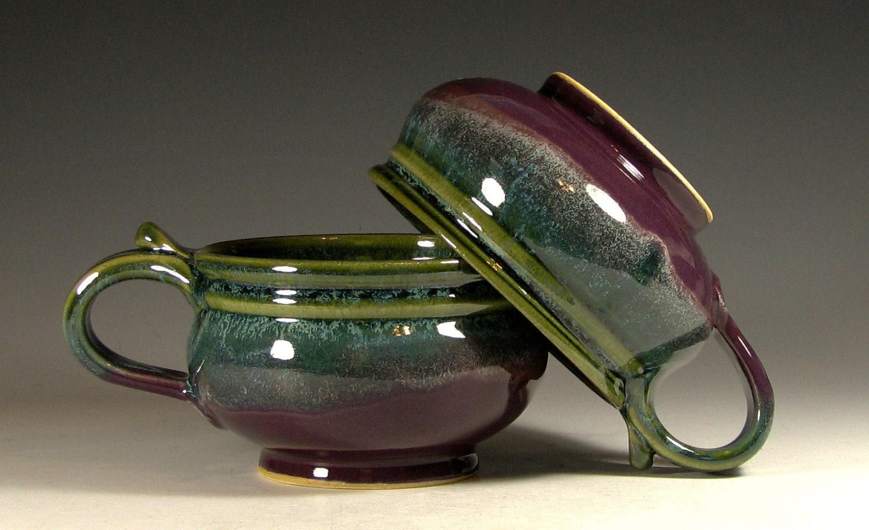 Soup Bowl Ceramic French Onion Soup Crock By Hughespottery