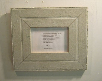 SHABBY ARCHITECTURAL Chic Salvaged Recycled Wood Photo Picture Frame 5x7 S-586-12