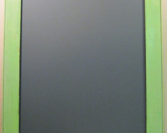 Repurposed Salvaged Green Wood Blackboard Chalkboard Menu Board 28x23 S767-12