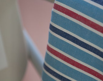 Another Perfect Stripe - Vintage Fabric Red White Blue Ticking 50s 36 in wide New Old Stock