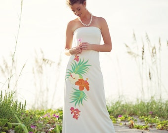 Strapless Beach Wedding Dress