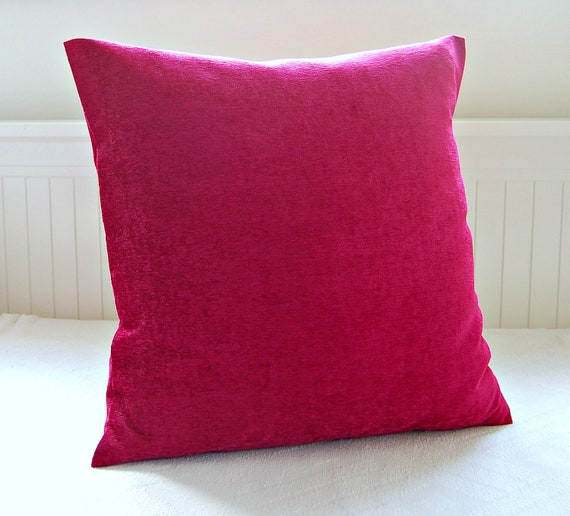 cushion cover accent cerise fuchsia pink decorative pillow