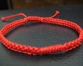 Red Adjustable Chinese Knot Braceket / Anklet