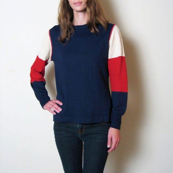 vintage 1970s MOD SKI sweater, m