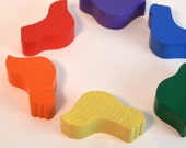 Montessori Toy - Sorting Doves Waldorf Wooden toy - Educational Toy