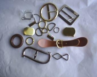 Buckles Metal Leather Western circle D rings