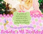 Flower Fairy Birthday Party Invitation - 5x7 DIGITAL FILE