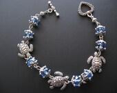 Turtle Bracelet Jewelry - Blue Turtle Bracelet