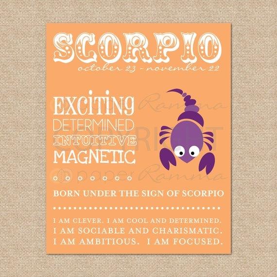 SCORPIO Zodiac Nursery / Kids Room Art Print // N-Z04-1PS AA1