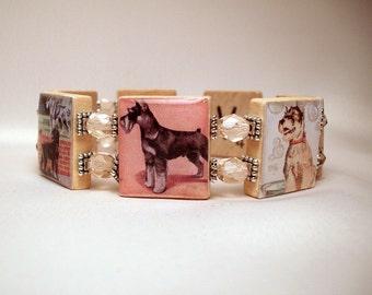 SCHNAUZER Bracelet / SCRABBLE JEWELRY / Dog Lover / Unusual Gifts