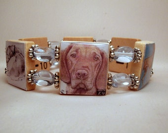 VIZSLA JEWELRY / Beaded Bracelet / Dog Lover / SCRABBLE / Unusual Gifts