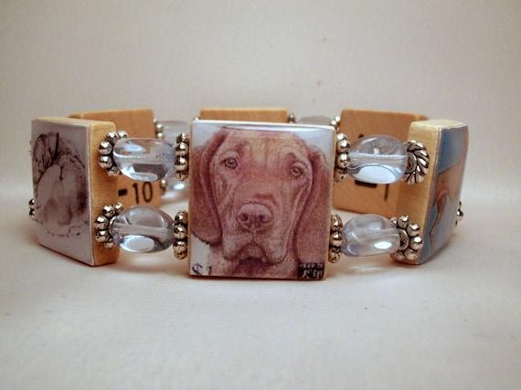 Vizsla jewelry beaded bracelet dog lover by pawsintime for Unusual dog gifts