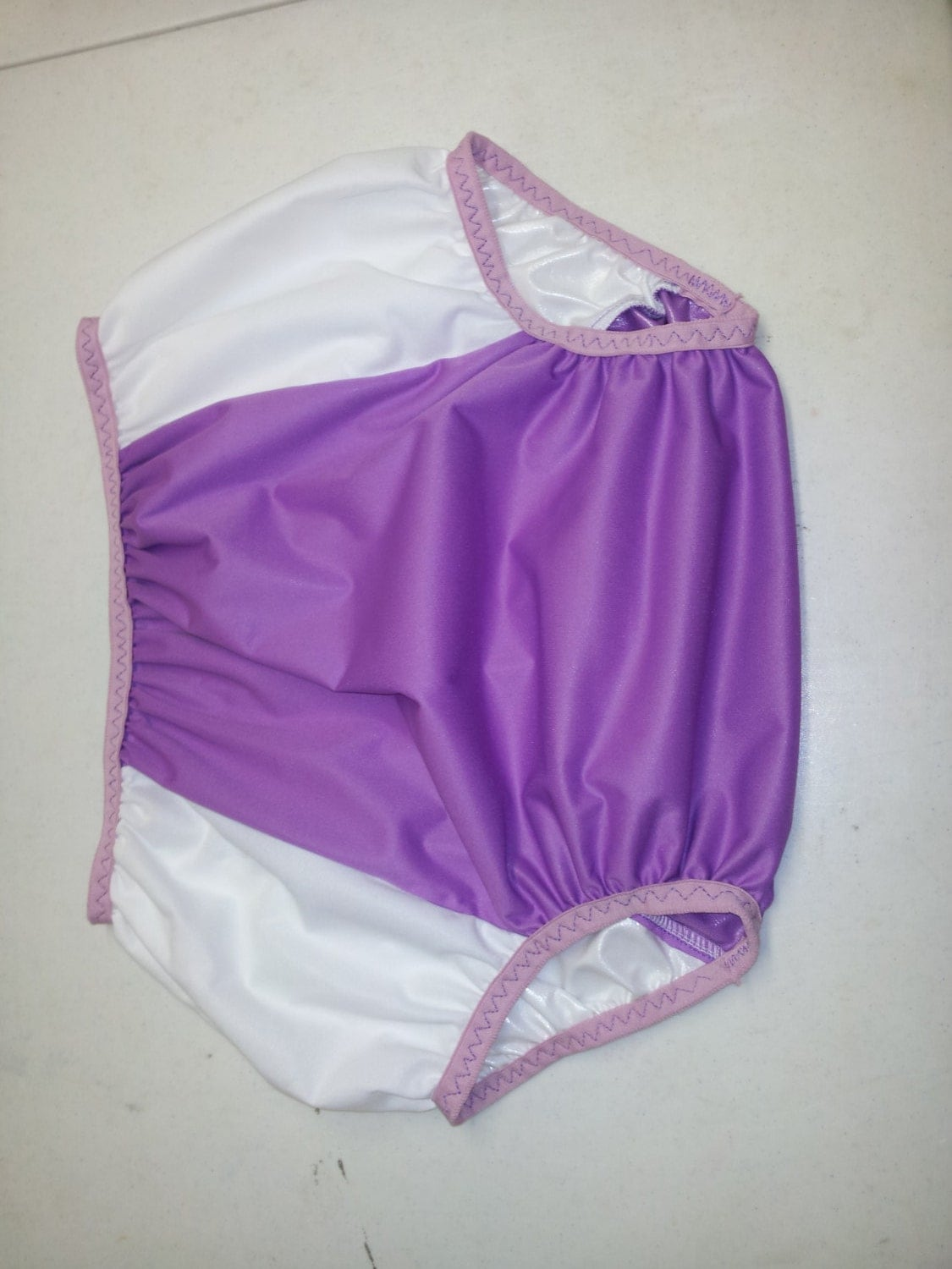 Adult Diaper Cover Lavender And White Size 30 To 40 Inches