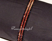 Black Orange Striped Glitter Headband Elastic 5/8 inch Stretch Sparkly Halloween Interchangeable Custom Team School Spirit